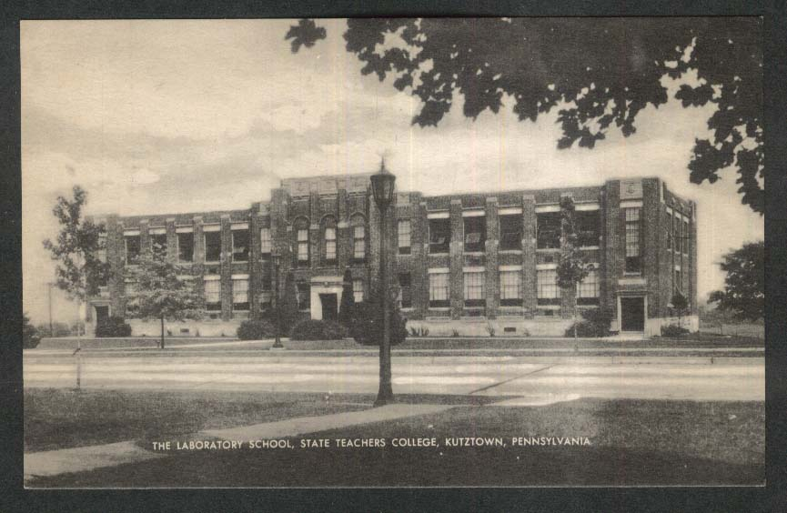 The Laboratory School State Teachers College Kutztown PA postcard 1950s