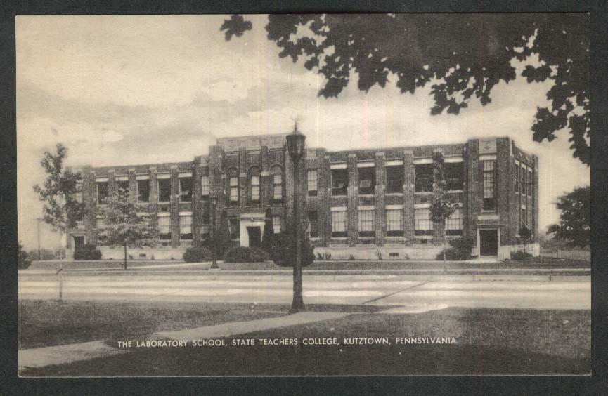 The Laboratory School State Teachers College Kutztown PA postcard 1950s
