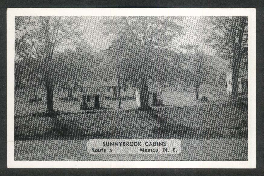Sunnybrook Cabins Route 3 Mexico NY postcard 1950s