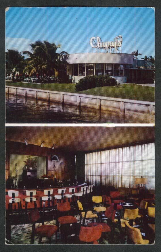 Charys 7904 West Drive North Bay Village Miami Beach FL postcard 1950s