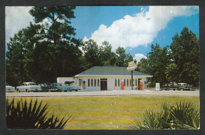Suwannee Gables Restaurant Old Town FL postcard 1950s
