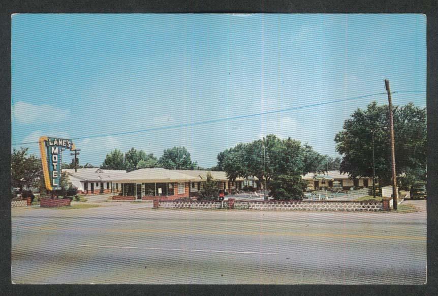 Lane's Motel Walterboro SC postcard 1960s