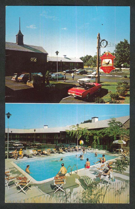 Centerville Corners Motor Lodge Cape Cod MA postcard 1960s Jim & Polly Taylor