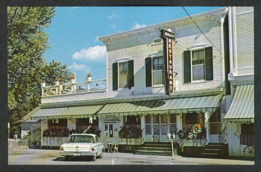 1961 Falcon at Quality Restaurant Manchester Center VT postcard 1960s