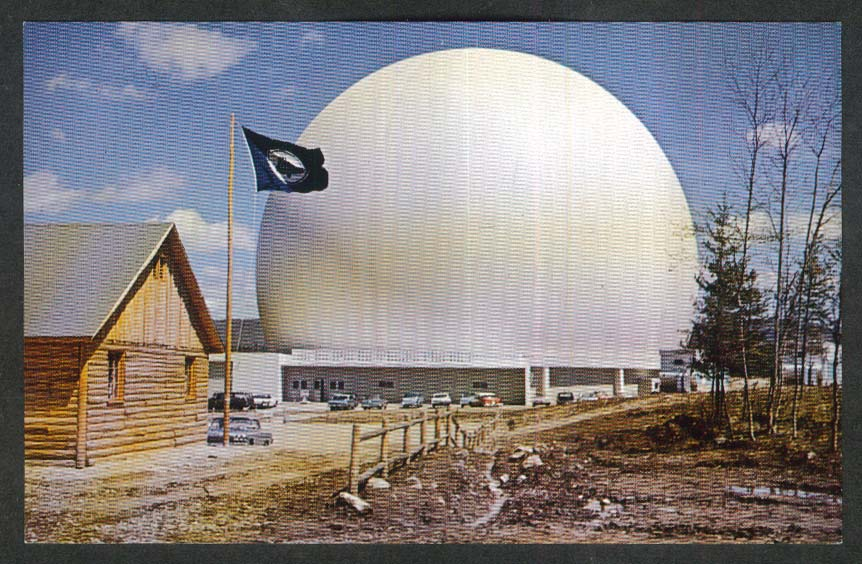Bell System Earth Station at Andover ME postcard 1960s