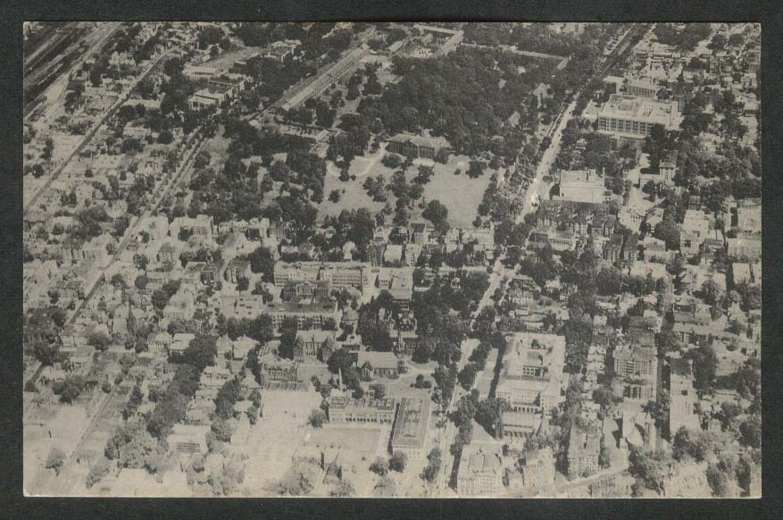 Aerial View of The Educational Center Springfield MA postcard 1940s
