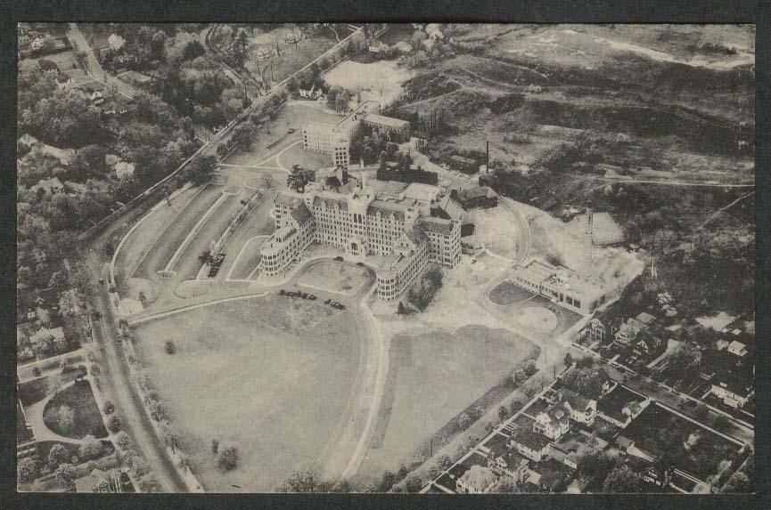 Springfield Hospital Springfield MA postcard 1940s