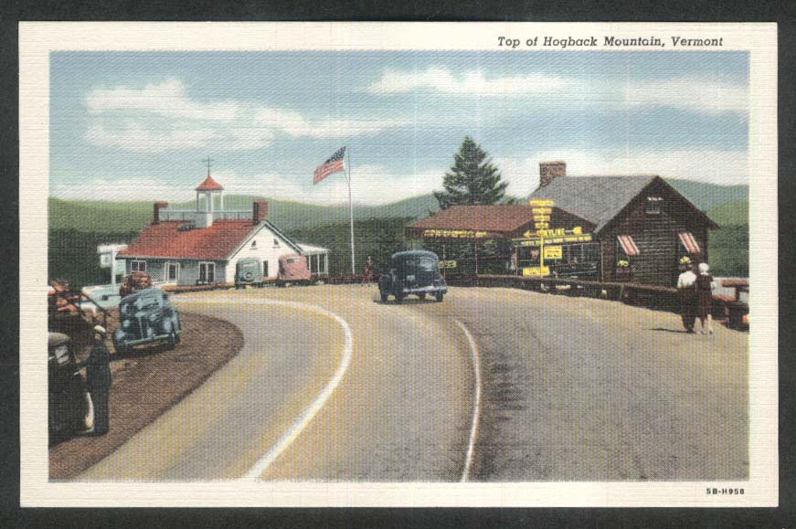 Top of Hogback Mountain VT postcard 1930s
