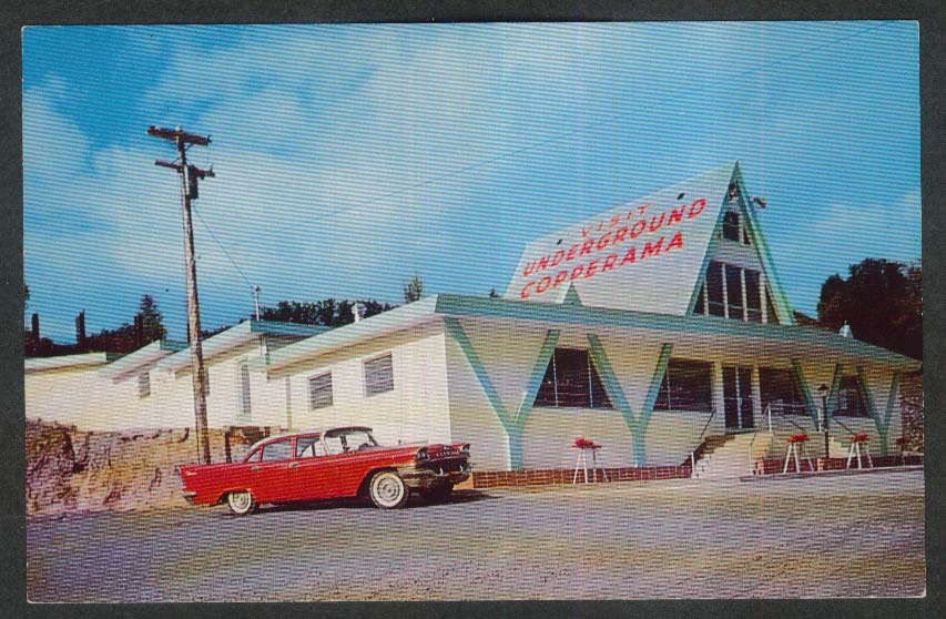 Copper Country's Underground Copperama Houghton MI postcard 1960