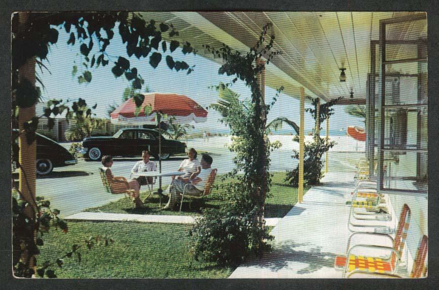 Gulf Beach Hotel Lido Beach Sarasota FL postcard 1950s