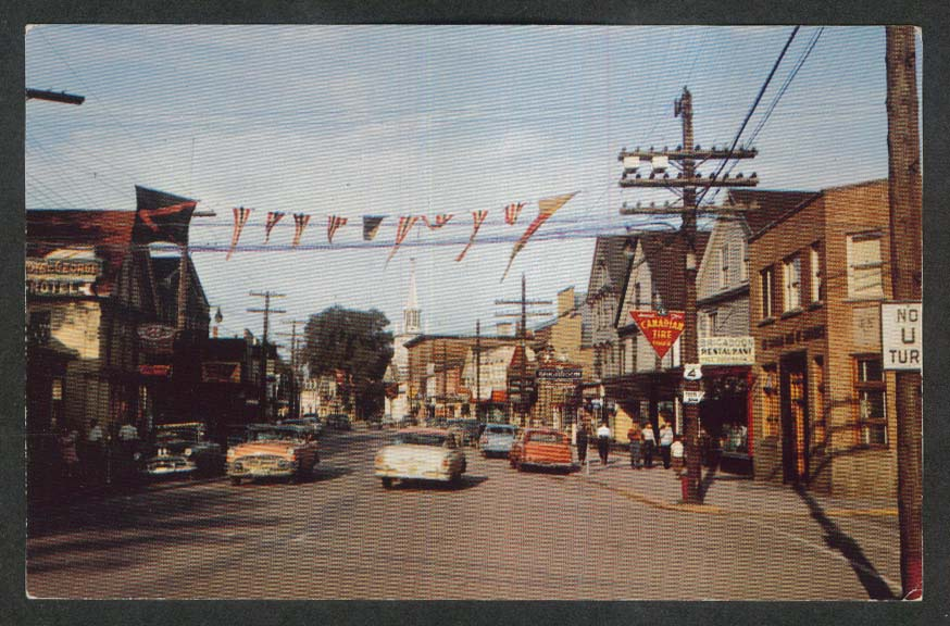 Canadian Tire Royal George Hotel Main St Antigonish Nova Scotia postcard 1950s