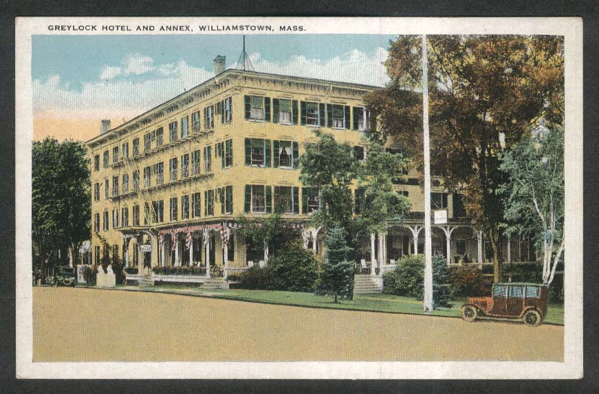 Greylock Hotel & Annex Williamstown MA postcard 1910s