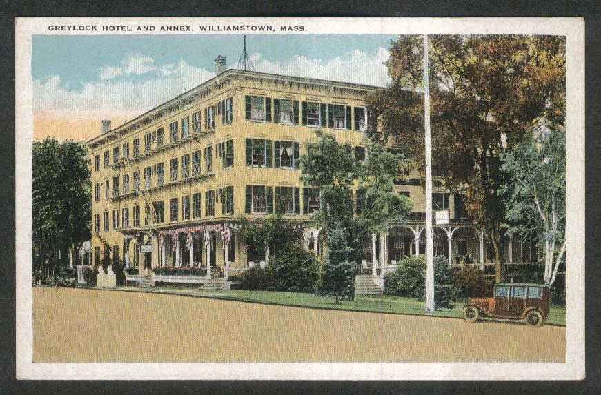Greylock Hotel & Annex Williamstown MA postcard 1910s