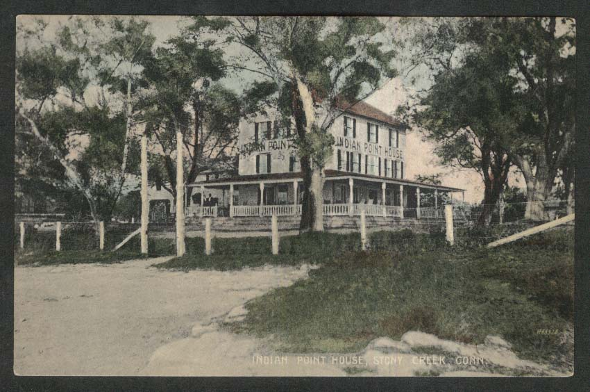 Indian Point House Stony Creek CT postcard 1920s