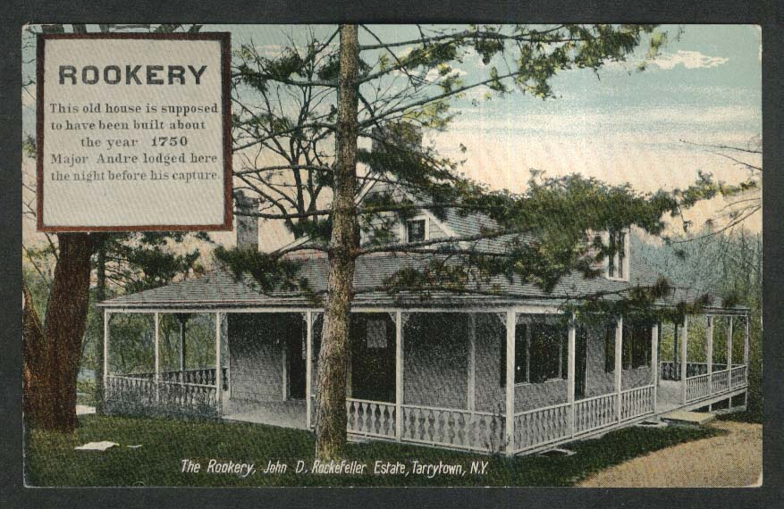 Rookery John D Rockefeller Estate Tarrytown NY postcard 1920s