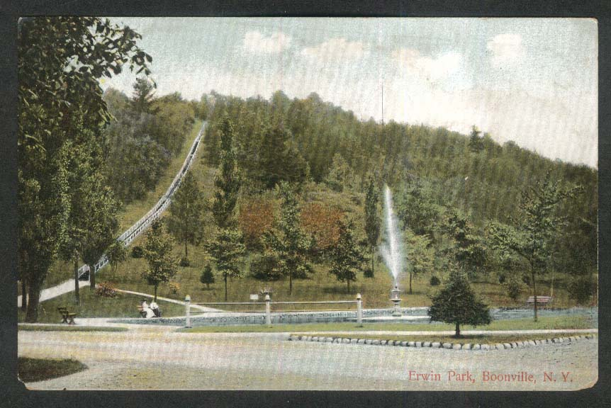 Erwin Park Boonville NY undivided back postcard 1900s