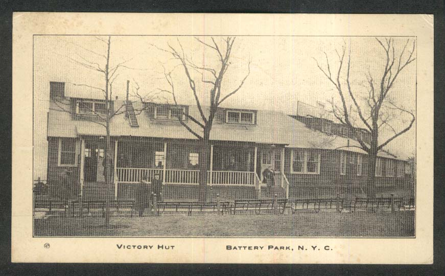 Victory Hut Battery Park New York City NY YMCA postcard 1910s