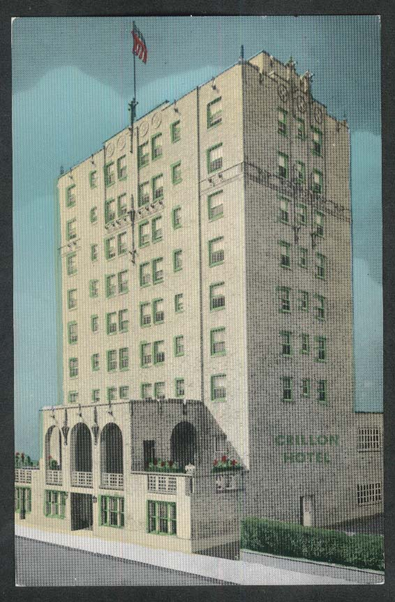 Crillon Hotel Indiana & Pacific Avenue Atlantic City NJ postcard 1950s