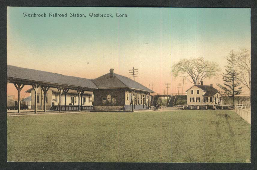Westbrook Railroad Station Westbrook CT postcard 1910s