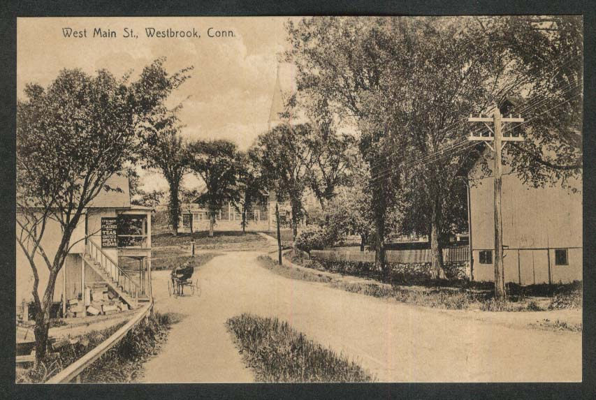 West Main Street Westbrook CT postcard 1910s