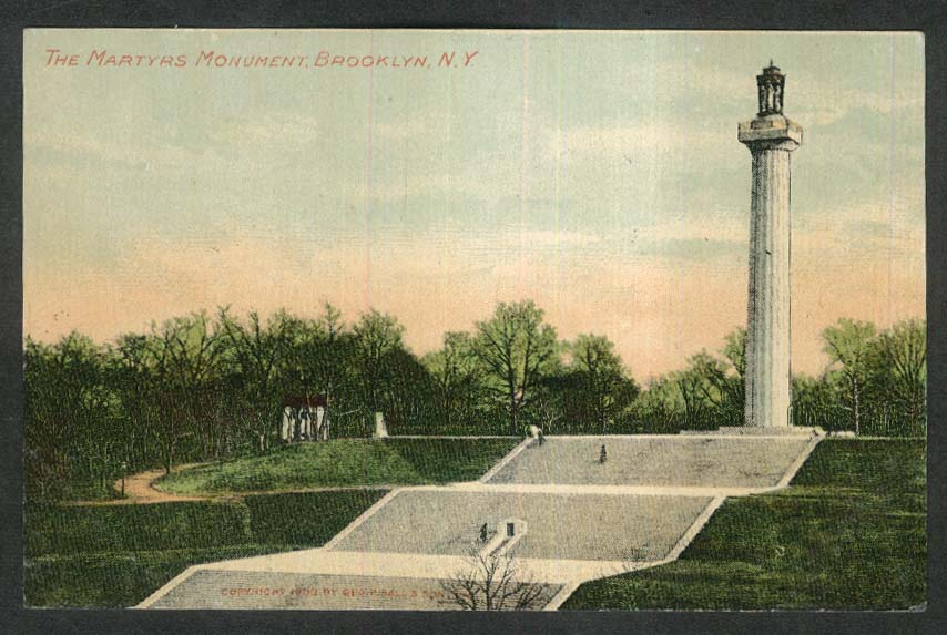 The Martyrs Monument Brooklyn NY postcard 1920s