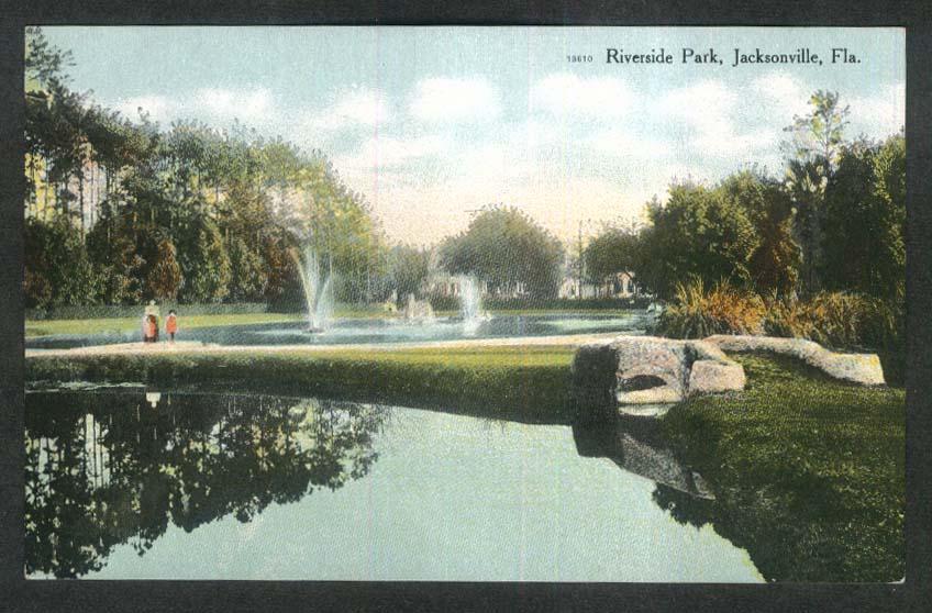 Riverside Park Jacksonville FL postcard 1920s