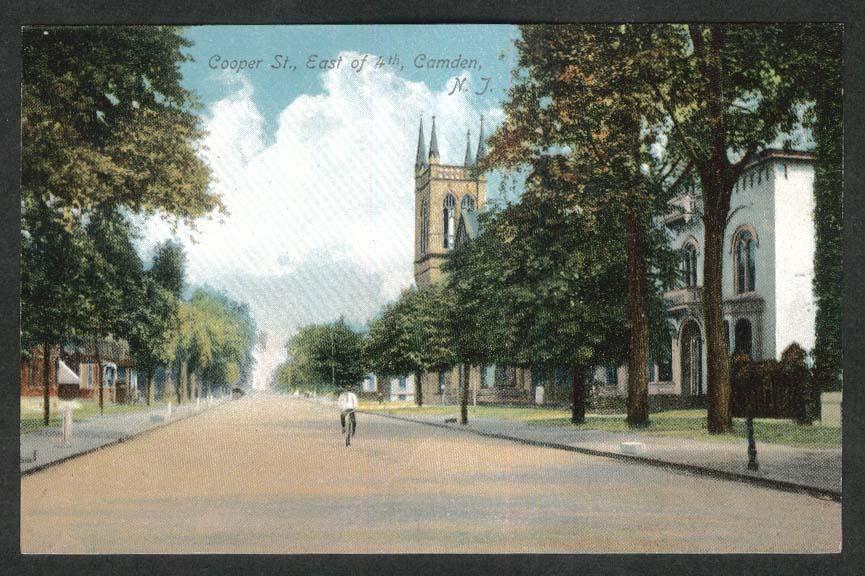 Cooper Street East of 4th Camden NJ postcard 1910s