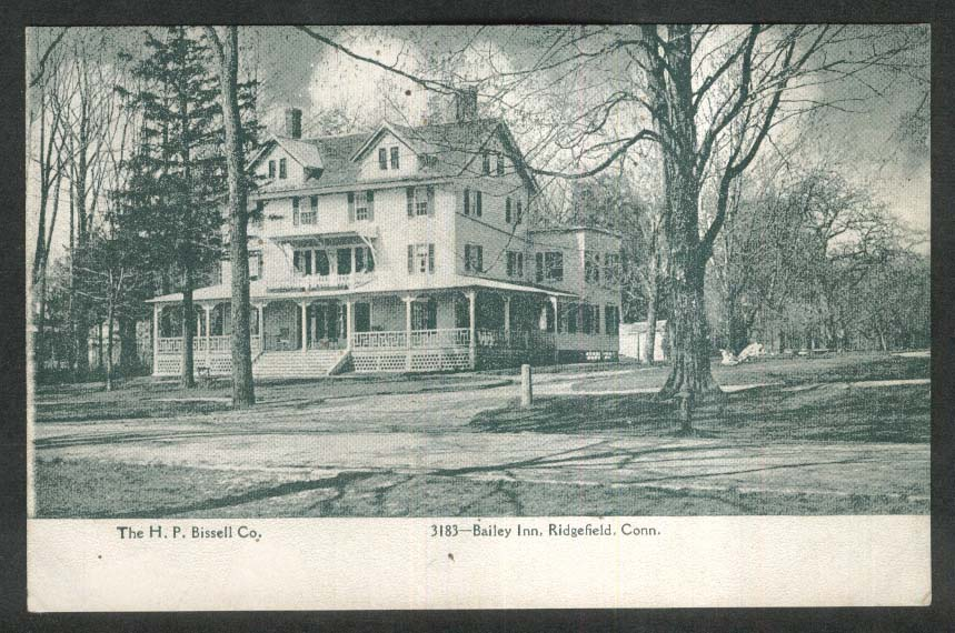 Bailey Inn Ridgefield CT undivided back postcard 1900s
