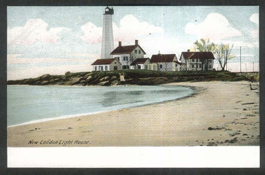 New London Light House New London CT undivided back postcard 1900s