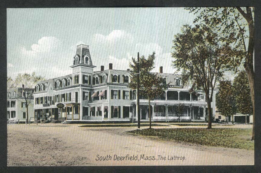 The Lathrop South Deerfield MA postcard 1910s