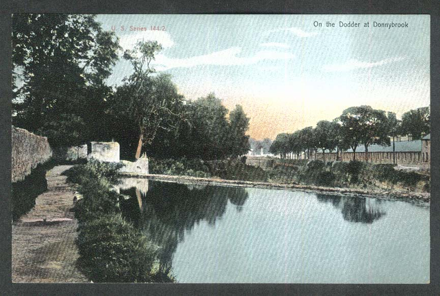 On the Dodder at Donnybrook Dublin Ireland undivided back postcard 1900s