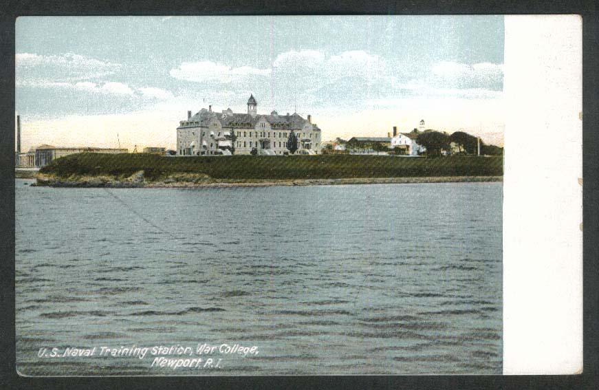 US Naval Training Station War College Newport RI postcard 1910s