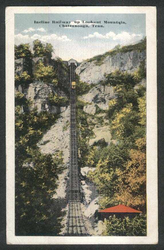 Incline Railway up Lookout Mountain Chattanooga TN postcard 1920s