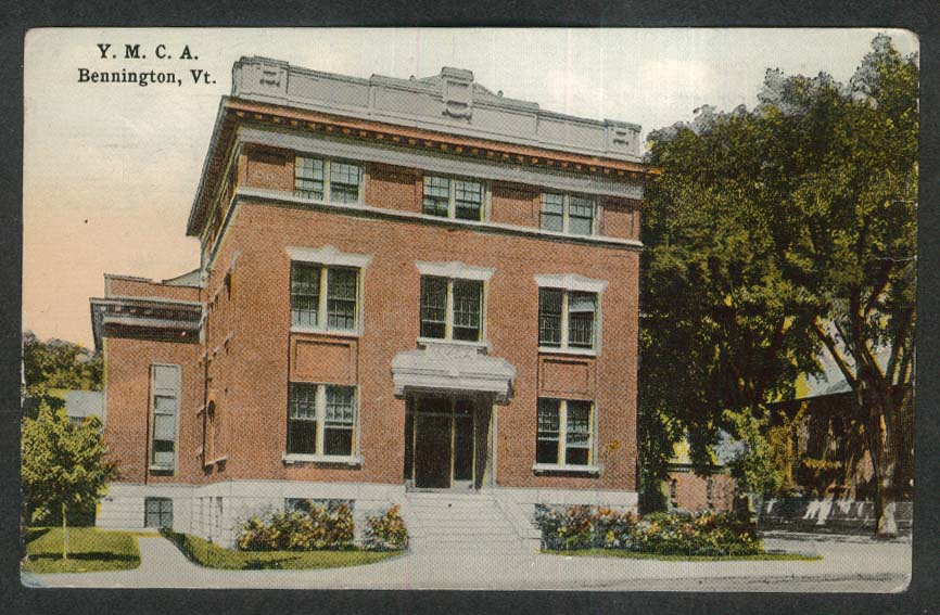 YMCA Bennington VT postcard 1910s