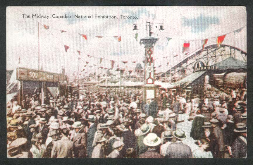 The Midway Canadian National Exhibition Toronto Canada postcard 1900s