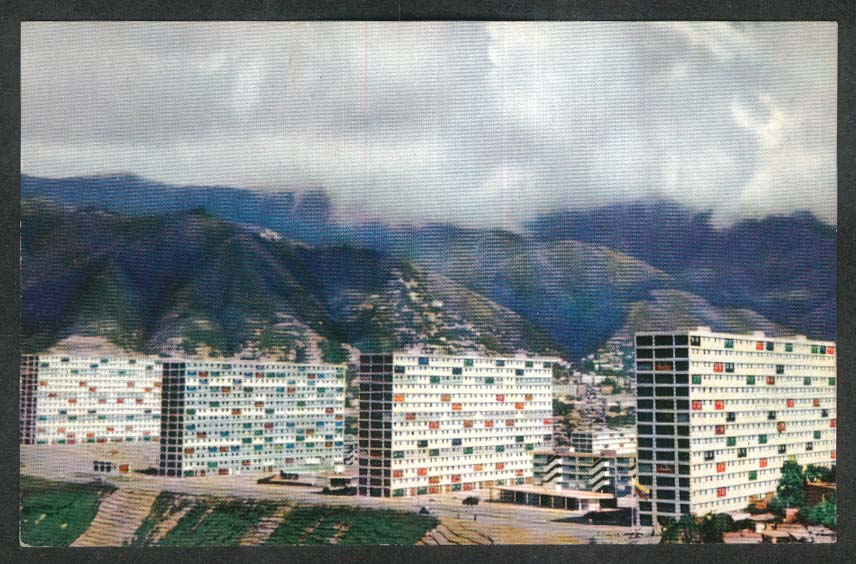 Urbanization December 2nd Caracas Venezuela postcard 1950s