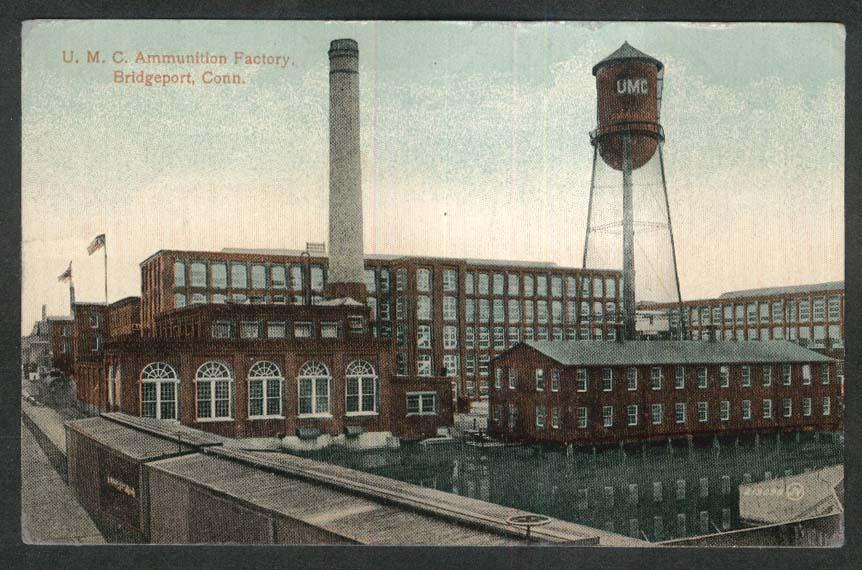 UMC Ammunition Factory Bridgeport CT postcard 1914