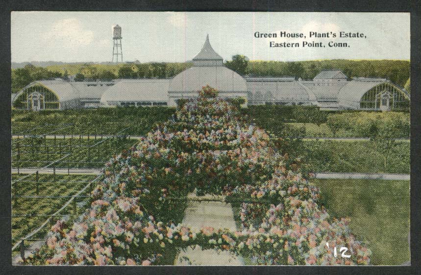 Green House Plant's Estate Eastern Point CT postcard 1912