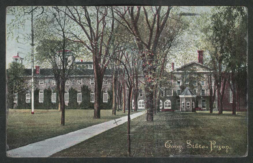 Connecticut State Prison Wethersfield CT postcard 1912