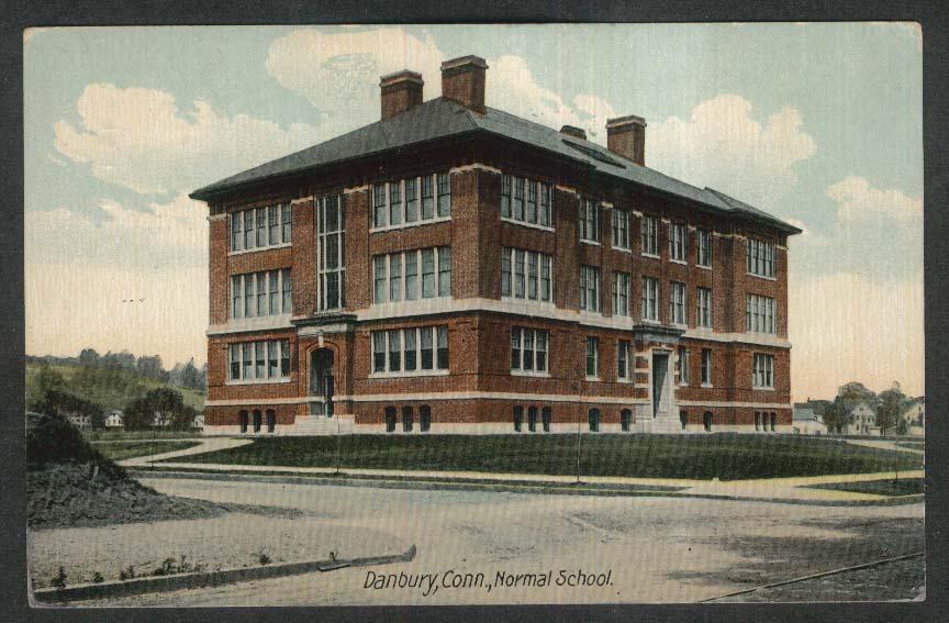 Normal School Danbury CT postcard 1913
