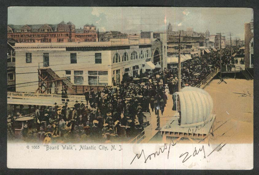 M S Friden Building Board Walk Atlantic City NJ undivided back postcard 1906