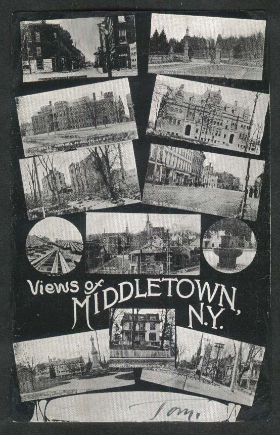 Views of Middletown NY undivided back postcard 1908