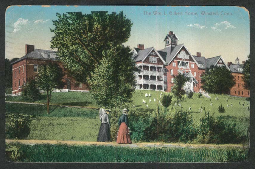 The William L Gilbert Home Winsted CT postcard 1910