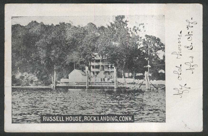 Russell House Rock Landing CT undivided back postcard 1909