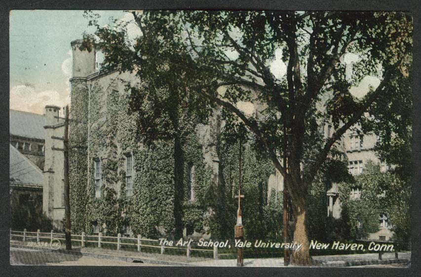 The Art School Yale University New Haven CT postcard 1909