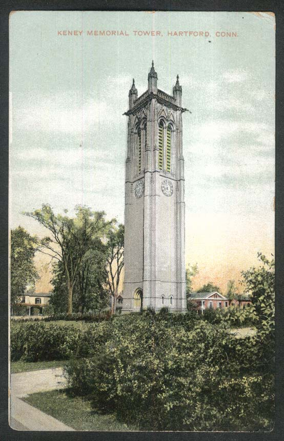 Keney Memorial Tower Hartford CT postcard 1910