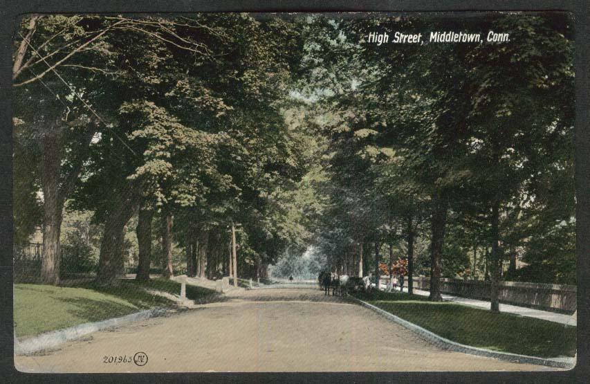 High Street Middletown CT postcard 1915