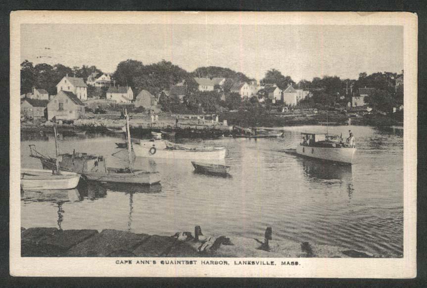 Cape Ann Harbor Lanesville MA postcard 1943