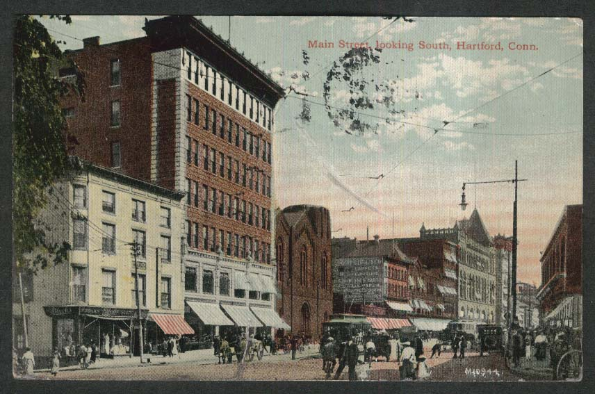 Black's Inglis Carpets & Furniture Main St Hartford CT postcard 1913