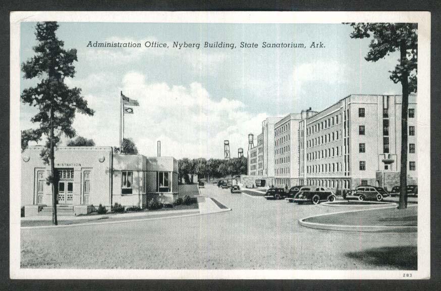 Administration Ofice Nyberg Building State Sanatorium AR postcard 1942